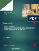 POM– Assignment 1