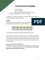 3 -Indicadores de Evaluación Financiera de Los Proyectos