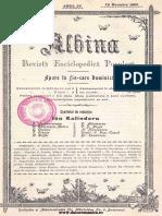 Albina - Revistă Enciclopedică Populară, 04, Nr. 09, 26 Noiembrie 1900