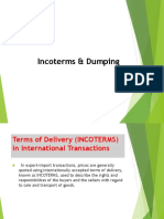 Incoterms & Dumping