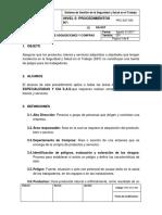 PRC-SST-008 Procedimiento de Adquisiciones y Compras