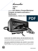 Manual Cargador de Bateria Shumacher