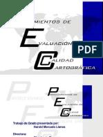 Presentación Procedimiento de evaluación de calidad cartográfica análoga (ISO19113 ISO19114)