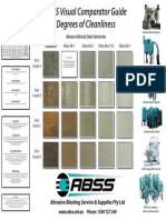 ABSS Visual Comparator Guide Degrees of Cleanliness