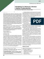 Various Treatment Modalities for Retrieval of Broken Abutment Screw in Implant Prosthodontics
