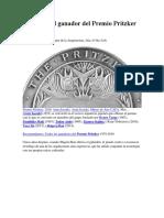Anuncian al ganador del Premio Pritzker 2019.docx
