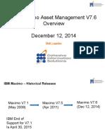 Cohesive Webinar Maximo 7.6 Overview Dec 12 2014