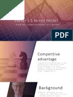 Ppt for Porter's Model Final