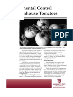 Environmental Control for Greenhouse Tomatoes