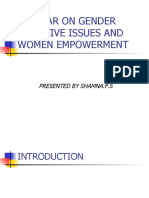 Seminar on Gender Sensitive Issues and Women Empowerment