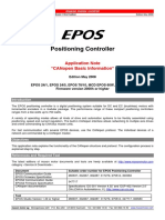 Manual EPOS2 ApplicationNotesCANopen