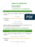 Propiedades de Multiplicación