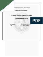 Programa de psicologia evolutiva II año 2018 UNLP