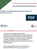 2018 Guideline on the Management of Blood Cholesterol Executive Summary Slide Set