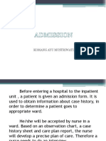 Admission 18