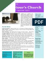 st saviours newsletter - 7 april 2019