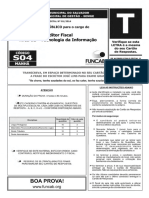 Prova Funcab Sefaz Ba Cargo Auditor Fiscal Tecnologia Da Informacao Ano 2014