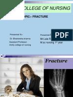 Fracture Presentation Ppt