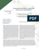 o continente africano e a produção africana do conhecimento.pdf