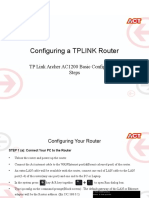 Configuration of router