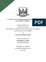 A  STUDY ON CUSTOMER SATISFACTION TOWARDS POST OFFICE SCHEME (1).docx