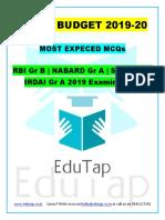 Attachment Union Budget 2019-20 MCQs RBI SEBI NABARD IRDAI 2019 Lyst4928