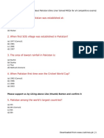 All About Pakistan (One Liner Solved MCQs for All Competitive Exams)
