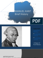 Presentation6 - Immanuel Kant Brief History