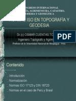 Normas Iso en Topografía y Geodesia