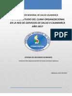 Plan para Estudio de Clima Organizacional Red Cajamarca