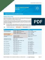 Especificações de Qualificação GC não Agilent