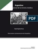 Situacion general de la mineria metalica en argentina- Virginia Paula Porras