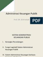 Bahan Kuliah Administrasi Keuangan Publik oleh Prof. Dr. JB Kristiadi