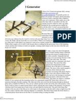Bicycle Powered Generator