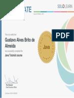 Certificado Java Sololearn