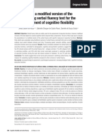 Use of a Modified Version of the Switching Verbal Fluency Test for the Assessment of Cognitive Flexibilit