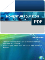 Chapter 3 Momentum Equation