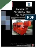 Manual de Operacion PTAR USBI Cordoba
