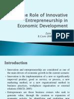 The role of innovative entrepreneurship in economic development