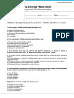 GP3 MedioBiologia Organizacion Del Sistema Nervioso PREGUNTAS