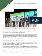 Mayor Presencia de Empresas Transportistas en Logistic Summit & Expo 2019