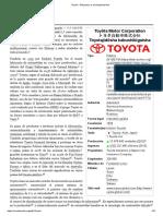Toyota - Wikipedia, La Enciclopedia Libre