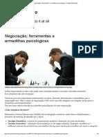 Negociação_ Ferramentas e Armadilhas Psicológicas – Project Mentoring