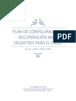 Plan de Configuración y Recuperación Ante Desastres Para El SMBD