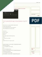 How to Upload Blob Image File  to Mysql Database Using PHP