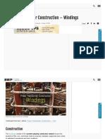 Power Transformer Construction – Windings