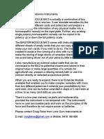 Information on Radionics Instruments