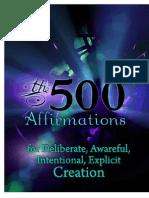 500 Affirmations 1