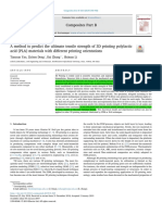 A Method to Predict the Ultimate Tensile Strength of 3D Printing Polylacticacid (PLA) Materials With Different Printing Orientations