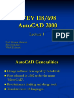 Auto CAD Introduction Lec 1